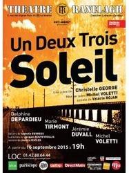 """Affiche de la pièce """"Un deux trois... soleil !"""", mise en scène de Michel Voletti"""